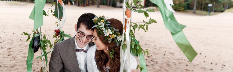 Осенняя свадьба с выездной регистрацией на заливе в ресторане Атлантис